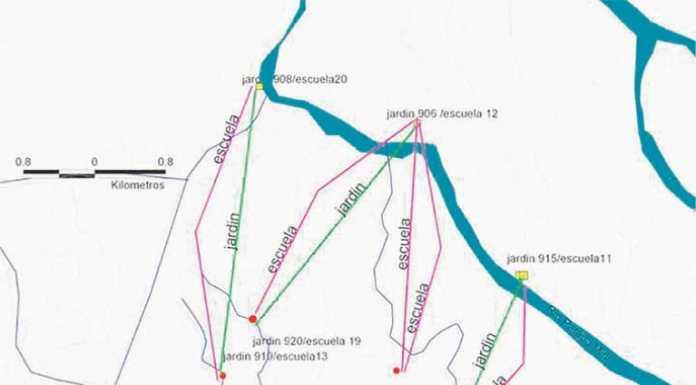 Mapa del cierre de Escuelas en el Delta