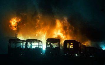 Incendio en Fabrica de Talar