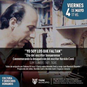 """""""Yo soy de los que Faltan"""" - Homenaje a Haroldo Conti @ Sum de la subsecretaria de Cultura"""