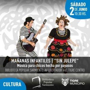 """Mañanas Infantiles"" : Sin Julepe @ Biblioteca Sarmiento"
