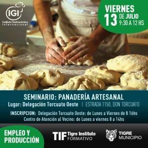 Seminario gratuito de Panadería Artesanal @ Delegación de Torcuato Oeste   Victoria   Buenos Aires   Argentina