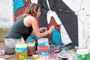 Pintó Tigre 2 - Artistas pintando en vivo @ Villa la Ñata - Las Heras y Luis María Campos y Dique Luján: Av. Villa Nueva y Salta | Buenos Aires | Argentina
