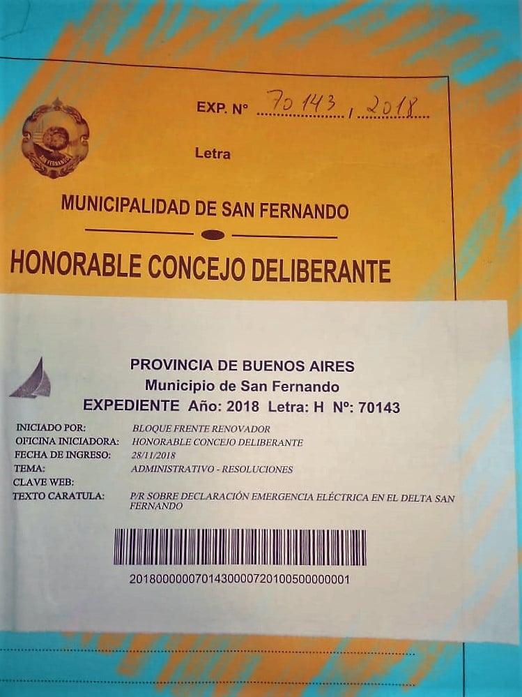 Declaración de Emergencia Energética en el Dela de San Fernando