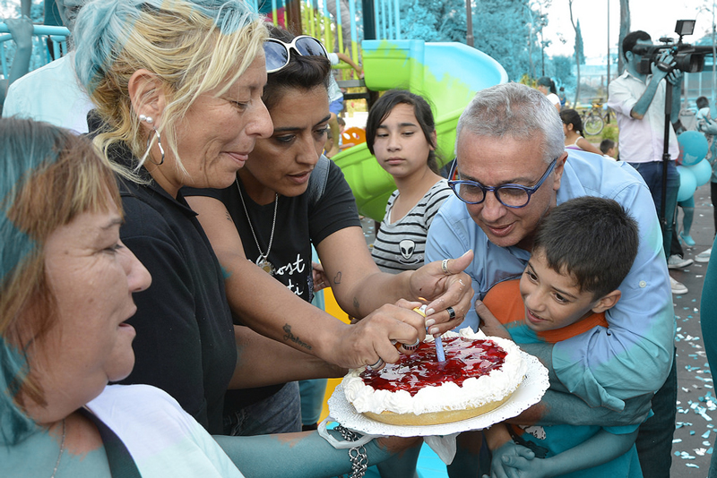 Plazoleta 9 de Julio del barrio López Camelo, en Ricardo Rojas.