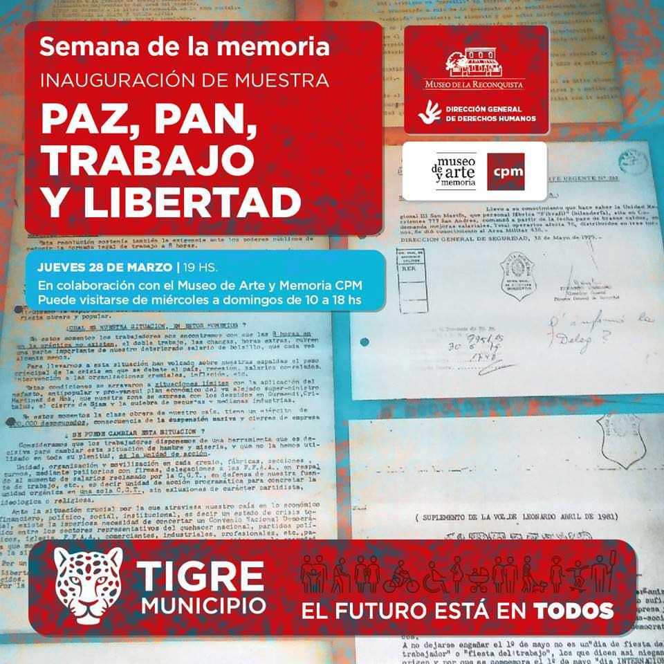 Muestra Paz, Pan, Trabajo y Libertad @ Museo de la Reconquista | Tigre | Buenos Aires | Argentina