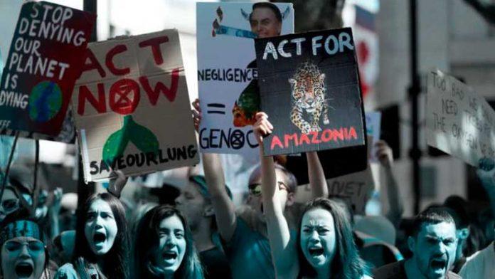 manifestación por el AmazonasBolsonari
