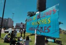 Manifestación frente a Nordelta