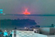 Incendio en islas